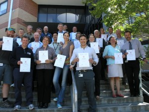 Graduates from ANU Energy and Carbon Training program, organised by Su Wild-River as part of the ANU Green Precincts Project